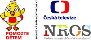 """Projekt """"Pomůžeme dětem změnit život"""" je financován ze sbírky Pomozte dětem organizované Českou televizí a Nadací rozvoje občanské společnosti."""